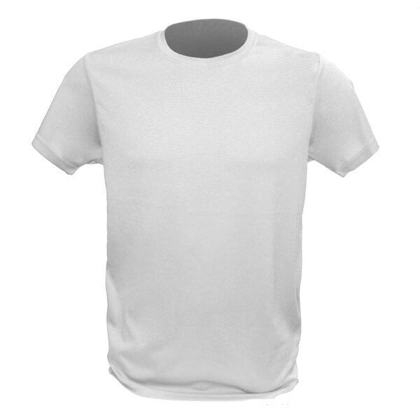 T-shirt basic bianca promozionale